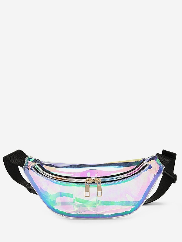 Holographic Zipper Fanny Pack