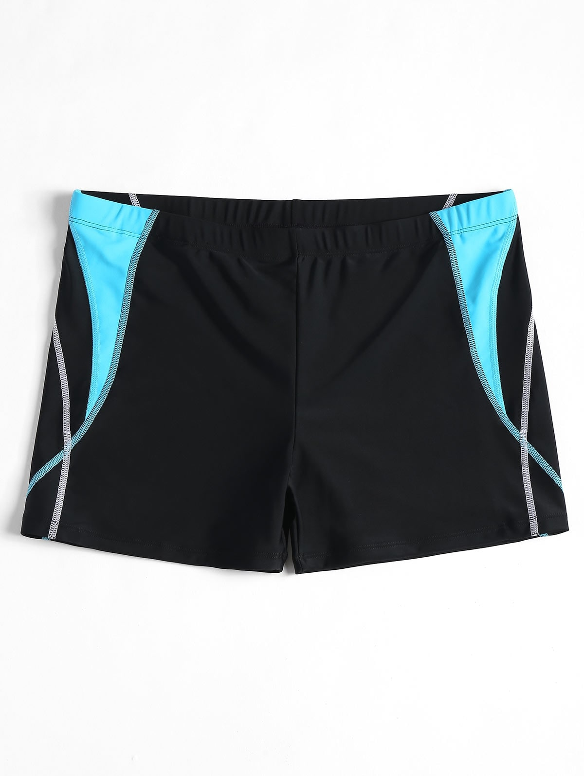 Stitching Color Block Swim Trunks