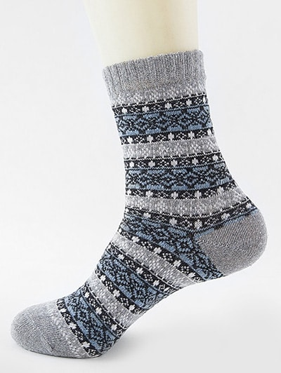 Ethnic Pattern Thick Crew Socks