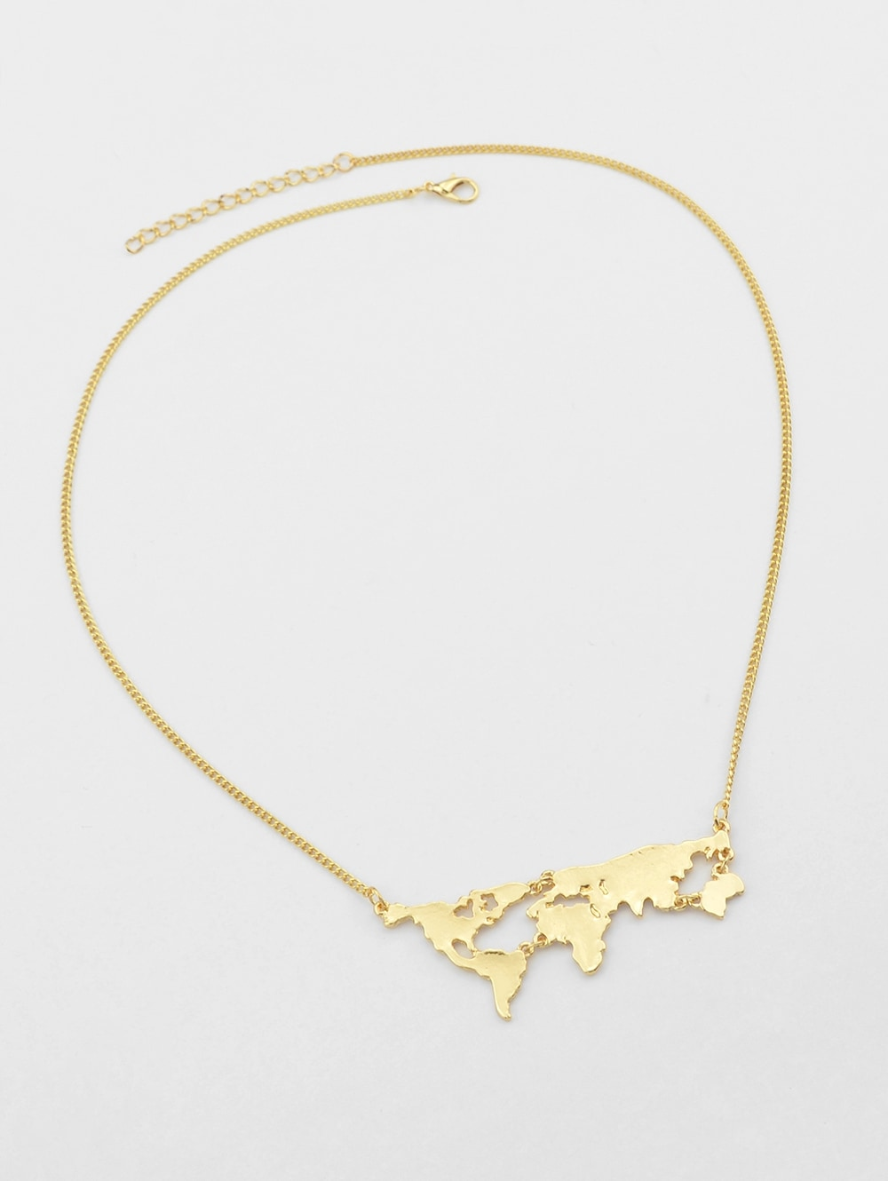 Map Design Alloy Necklace