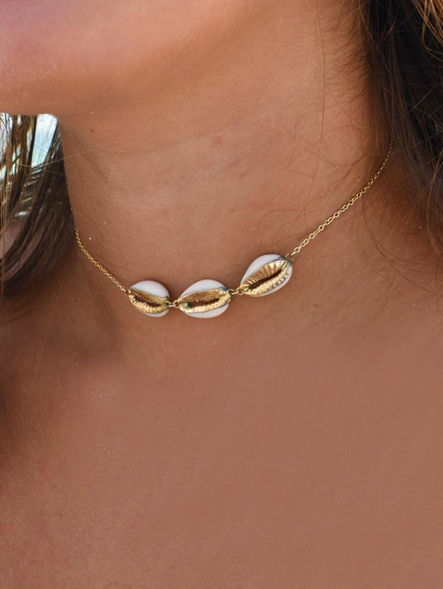 Shell Shape Link Chain Necklace