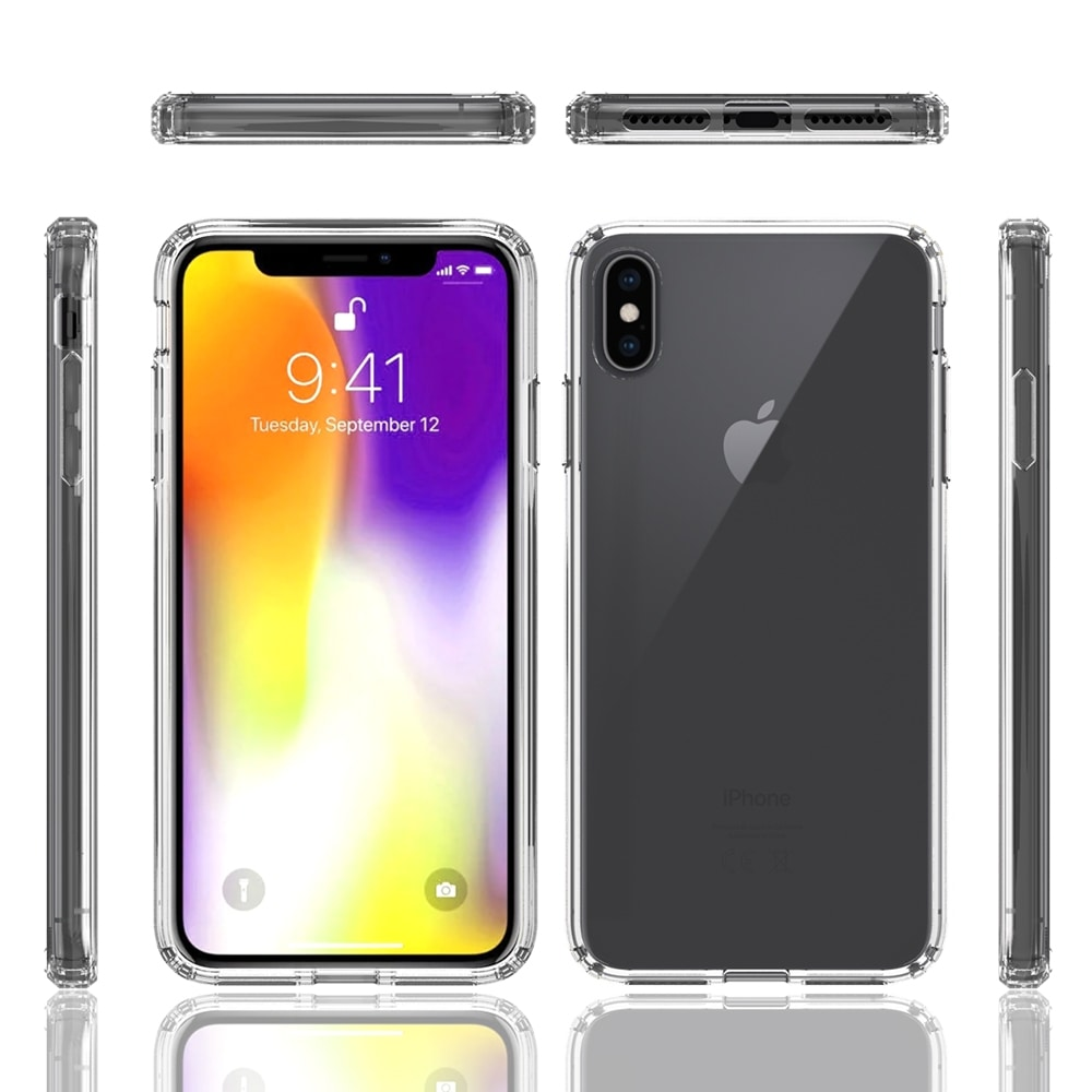Acrylic Clear Full Cover Drop-Proof Phone Case for IPhone XS Max