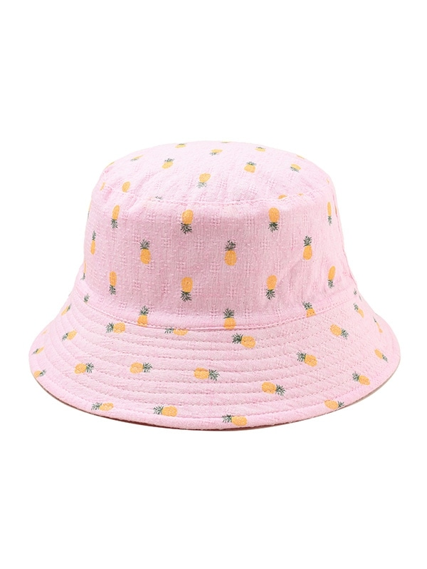 Pineapple Print Leisure Bucket Hat