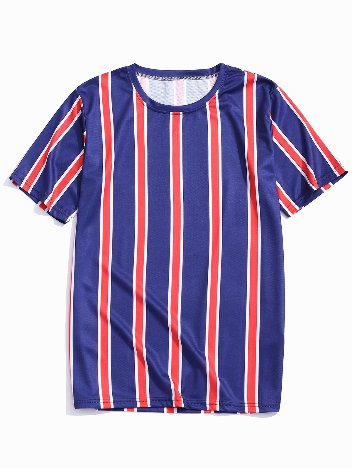 Stripes Print Color Block Tee