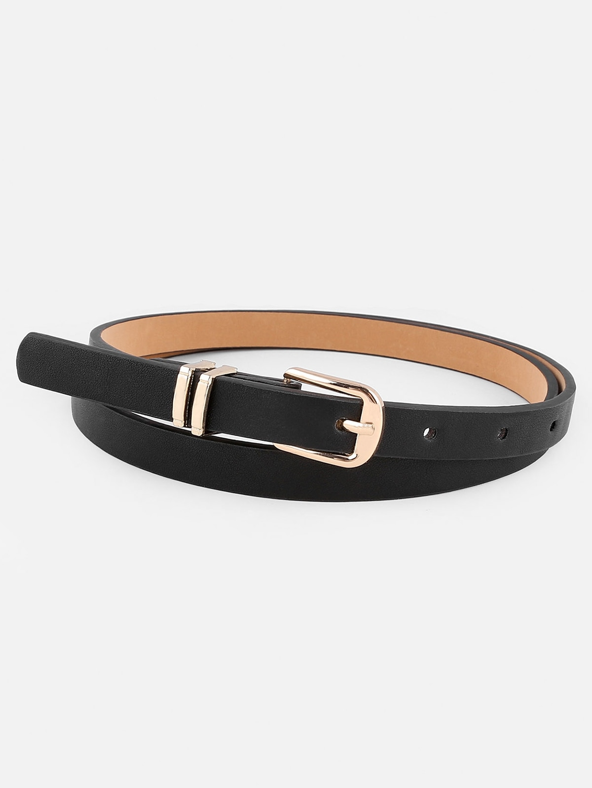 Stylish Metal Buckle Artificial Leather Pant Belt