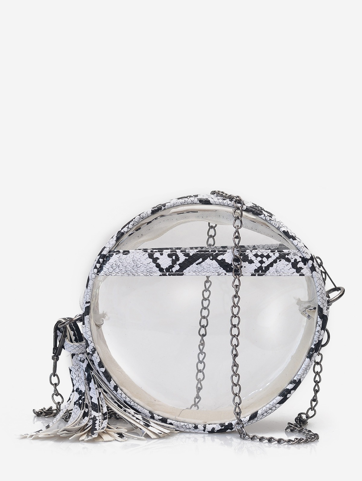 Transparent Snakeskin Crossbody Bag