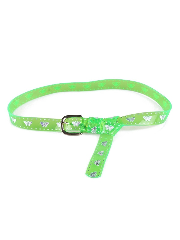 Butterfly Transparent Neon PVC Belt
