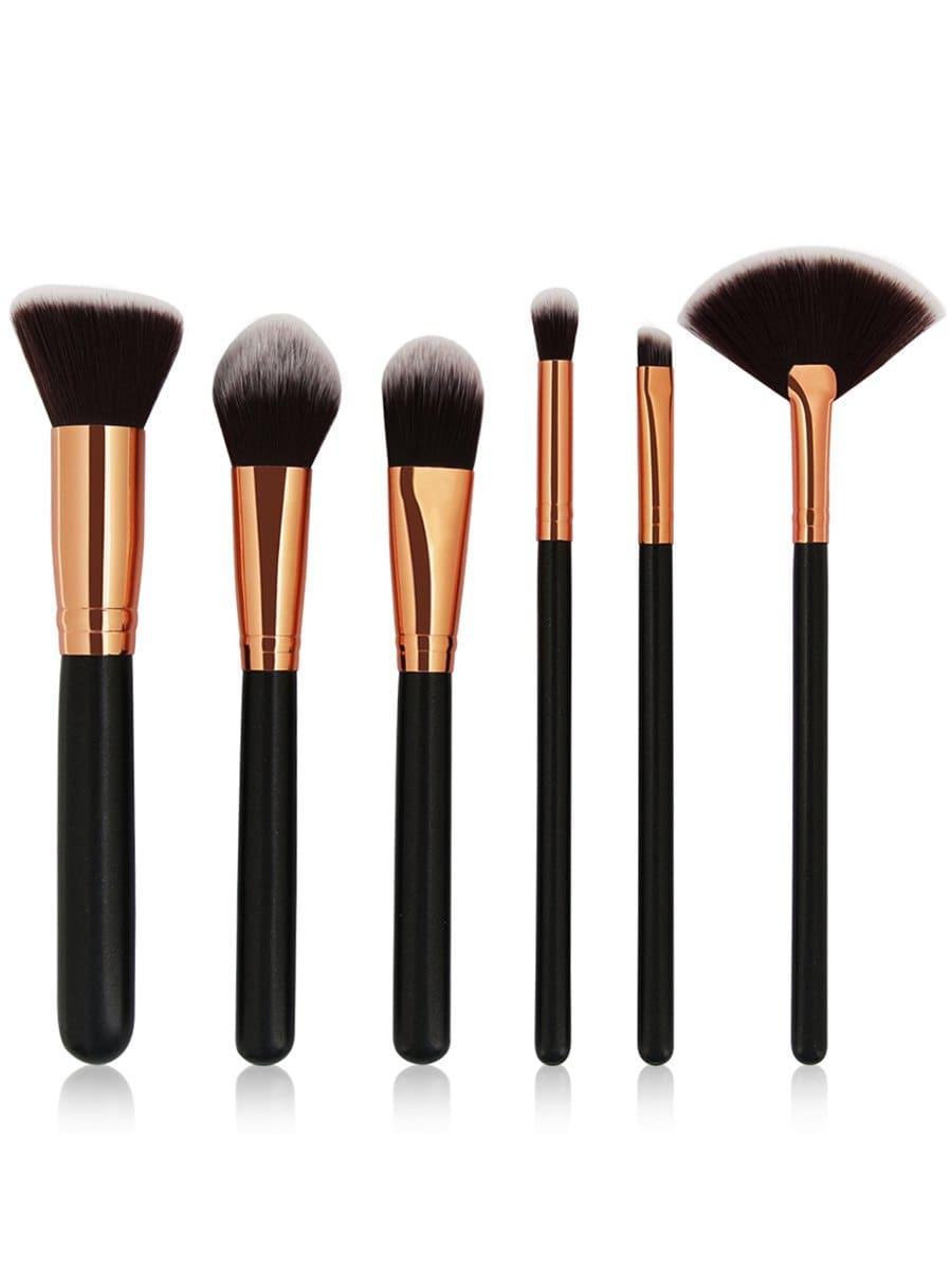 Cosmetic 6Pcs Wooden Handles Travel Makeup Brush Set