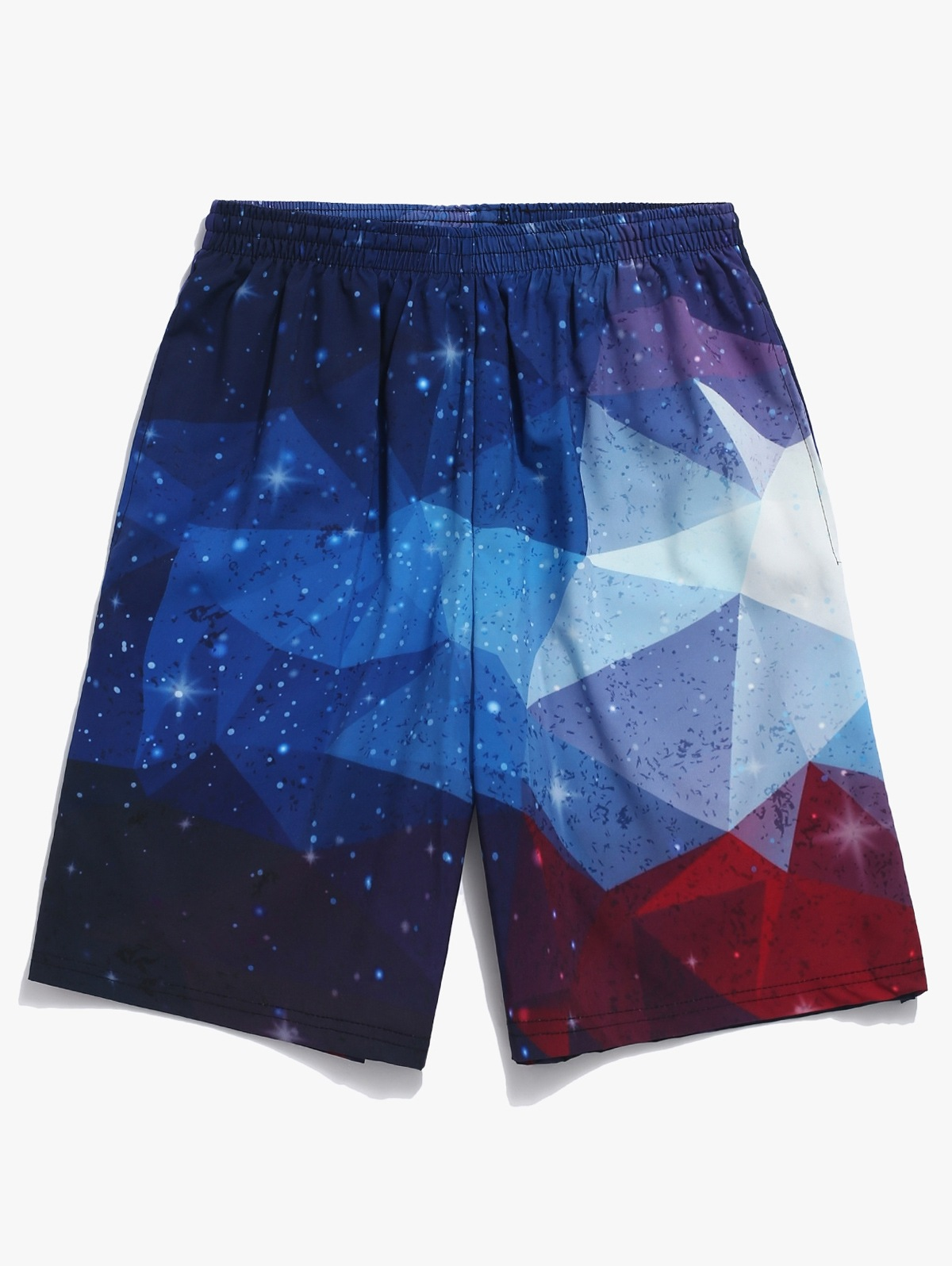 Galaxy Geometric Print Beach Shorts