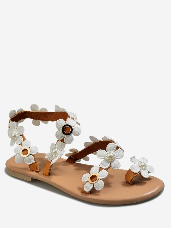 Casual Flower Pattern Summer Sandals