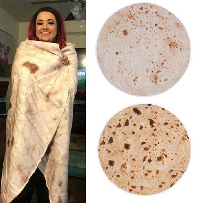 Warm Soft Tortilla Blanket Pattern Plush Blanket