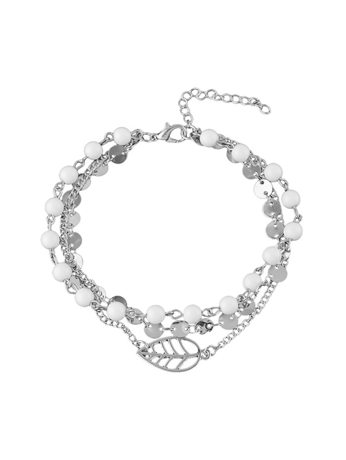 Beach Beading Multilayered Chain Anklet
