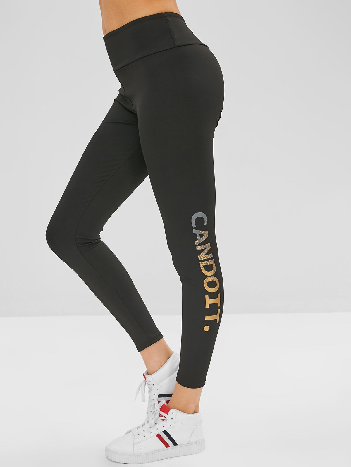 Can Do It Graphic Leggings