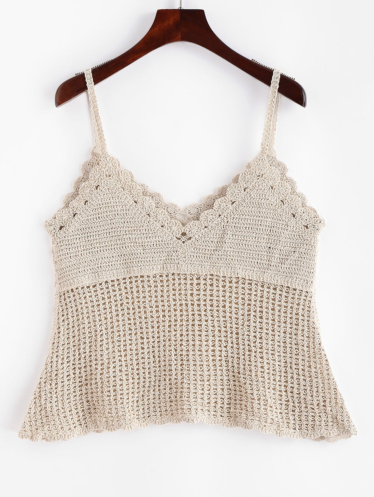 Crochet Scalloped Cover Up Top