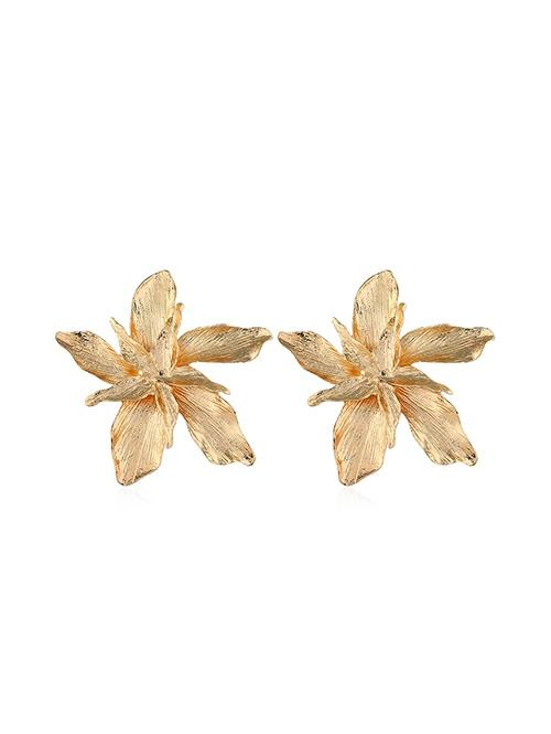 Floral Alloy Stud Earrings