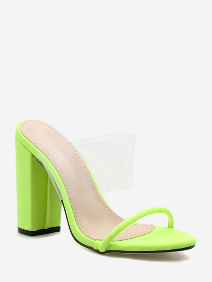 Translucent PVC High Heel Slides