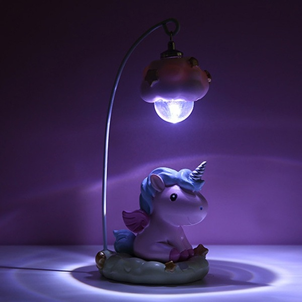 Unicorn Resin Craft Night Light