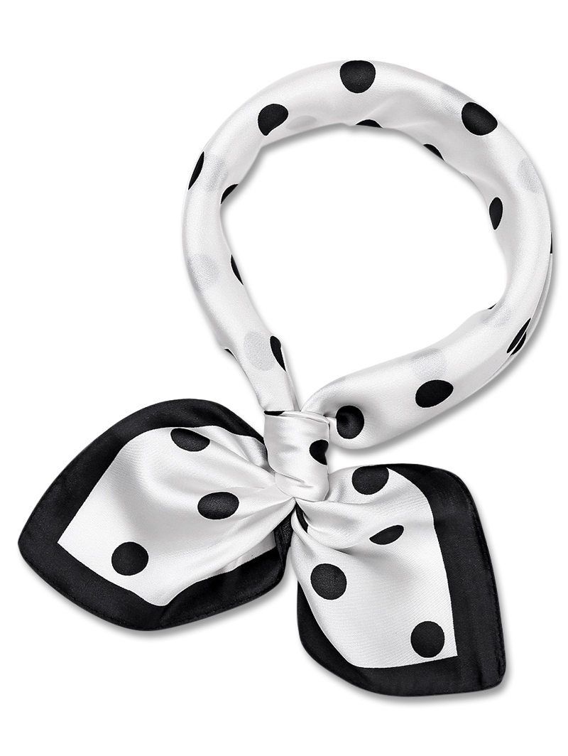 Dot Decoration Square Shape Scarf
