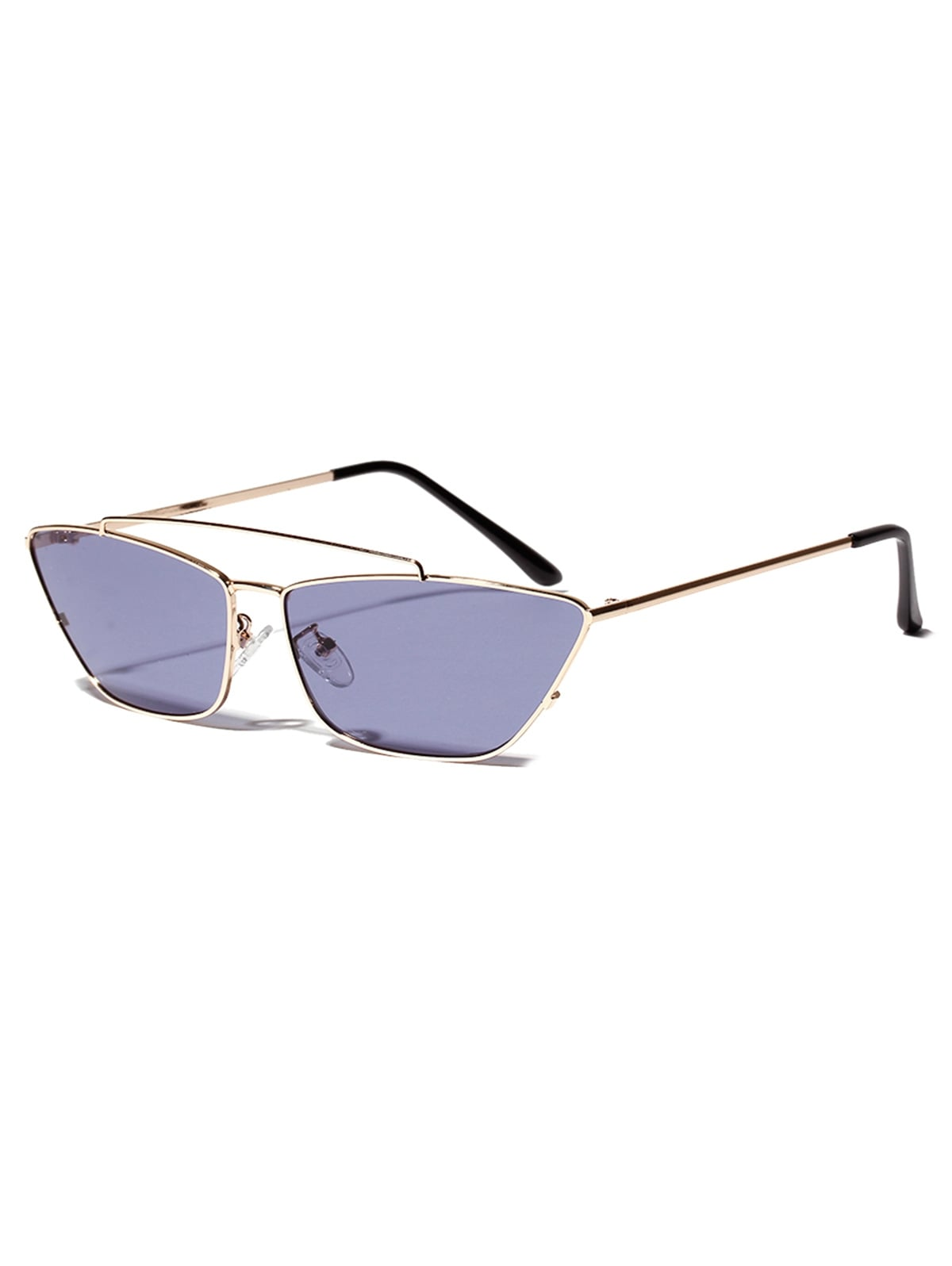 Trapezoid Shape Metal Frame Stylish Sunglasses