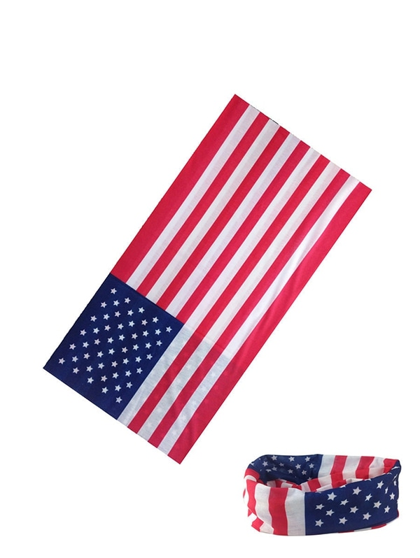 American Flag Riding Circle Head Scarf