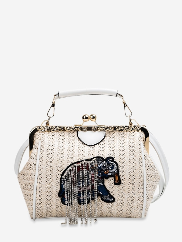 Animal Embroidery Crossbody Bag