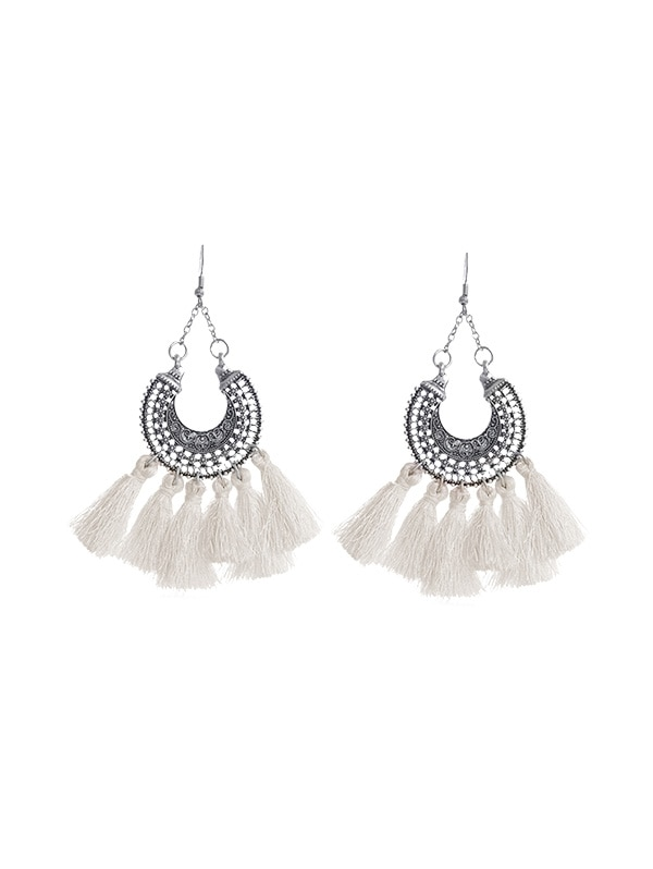 Bohemia Style Ethnic Hollowed Out Dangle Earrings