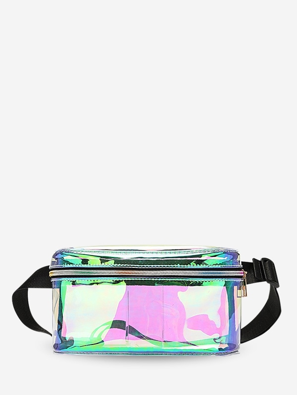 Iridescent Zipper Fanny Pack