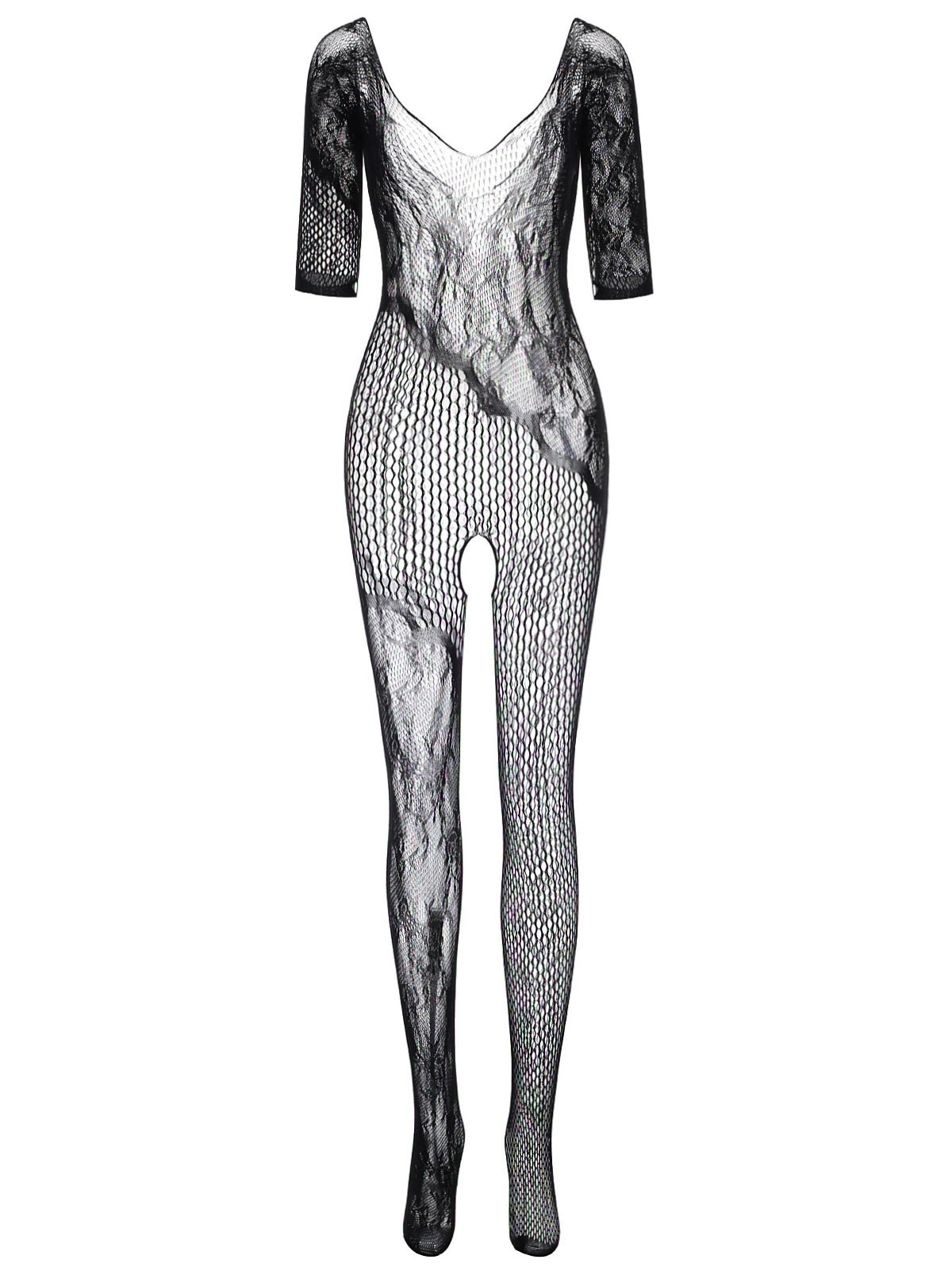 Open Crotch Lace Net Bodystocking