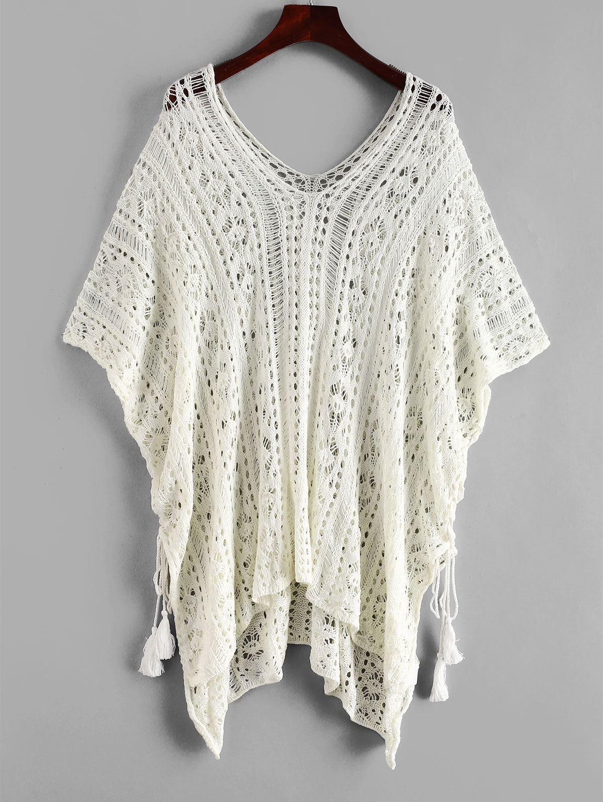 Side Lace-up Crochet Top