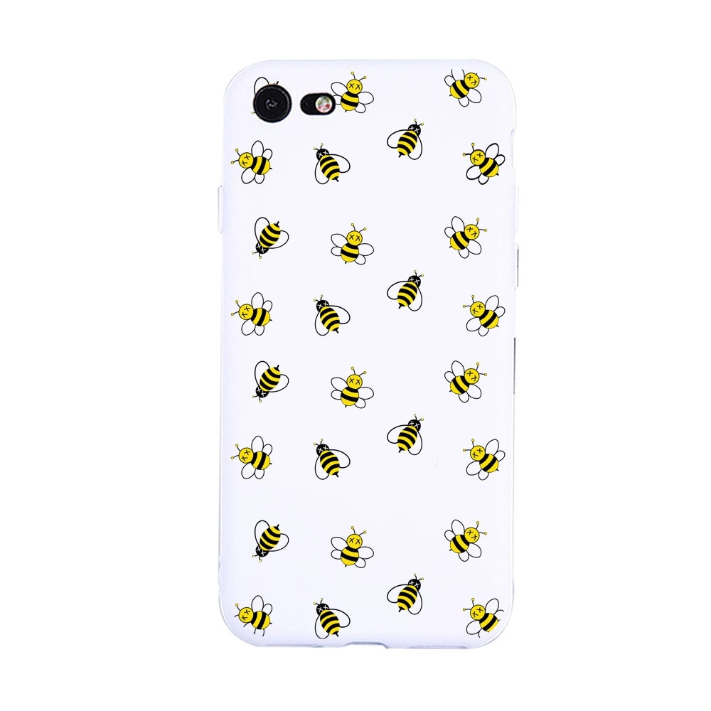 A Group of Bees Candy White Protective Flexible Case for iPhone7/8