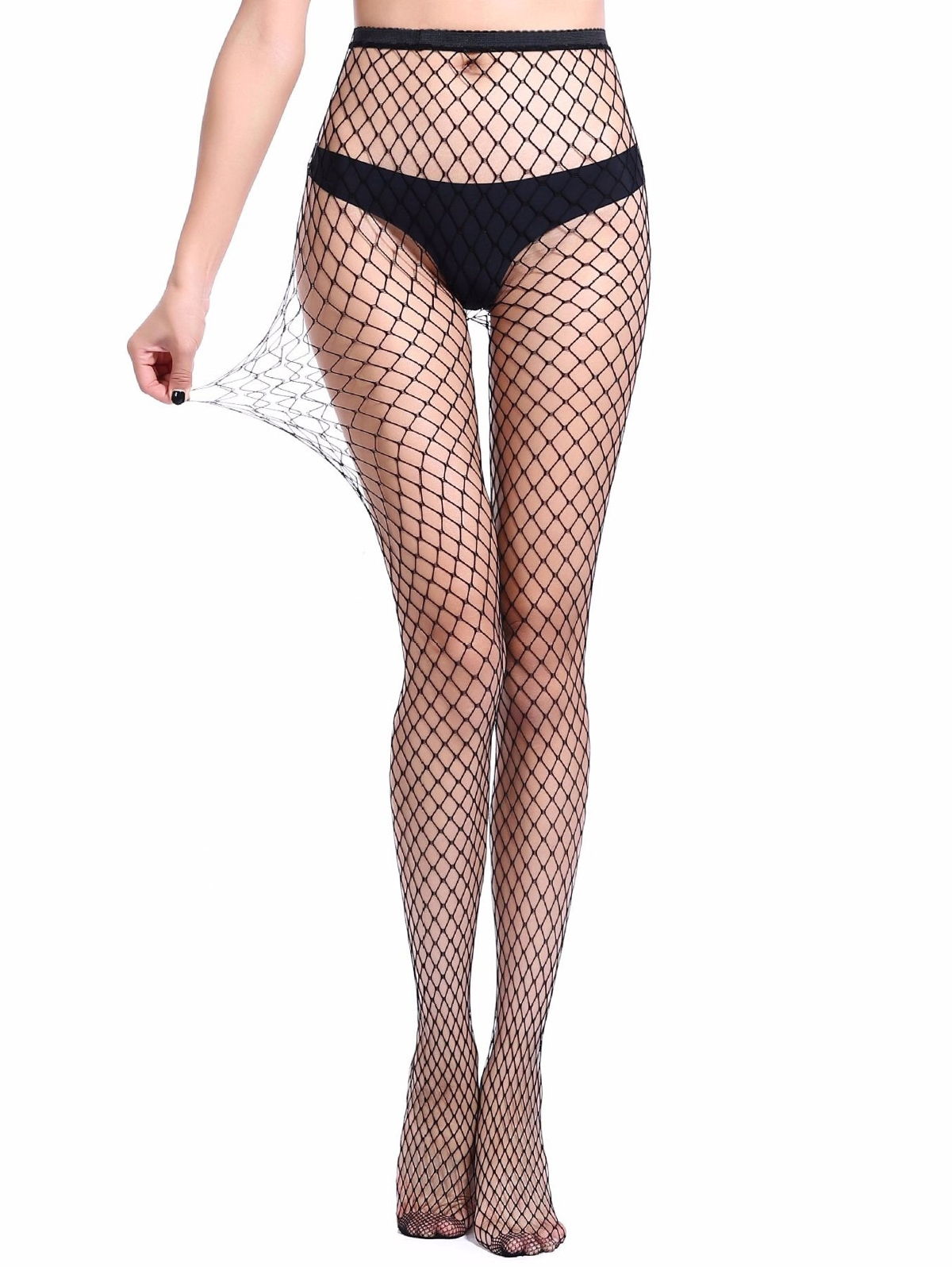 Hollow Mesh Fishing Net Long Pantyhose