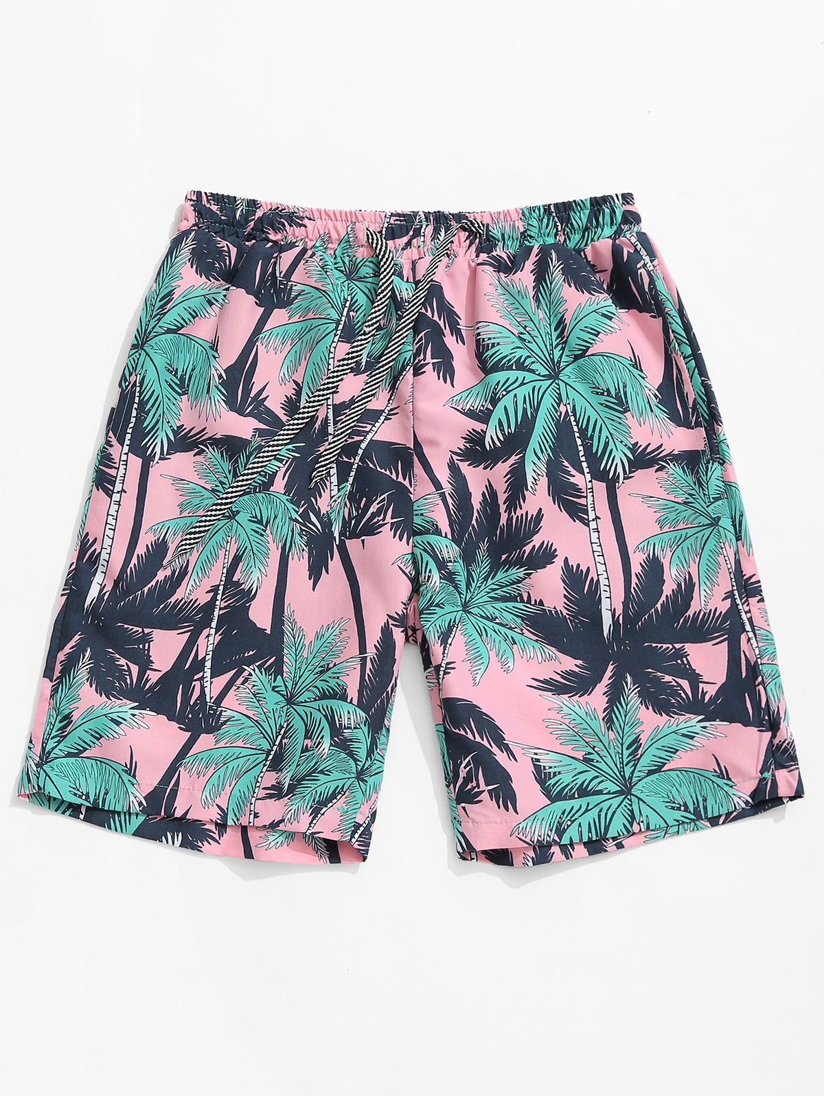 Palm Tree Allover Print Beach Shorts