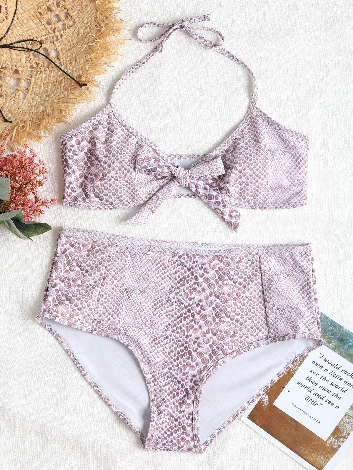 Bowtie Plus Size High Waisted Bikini Set