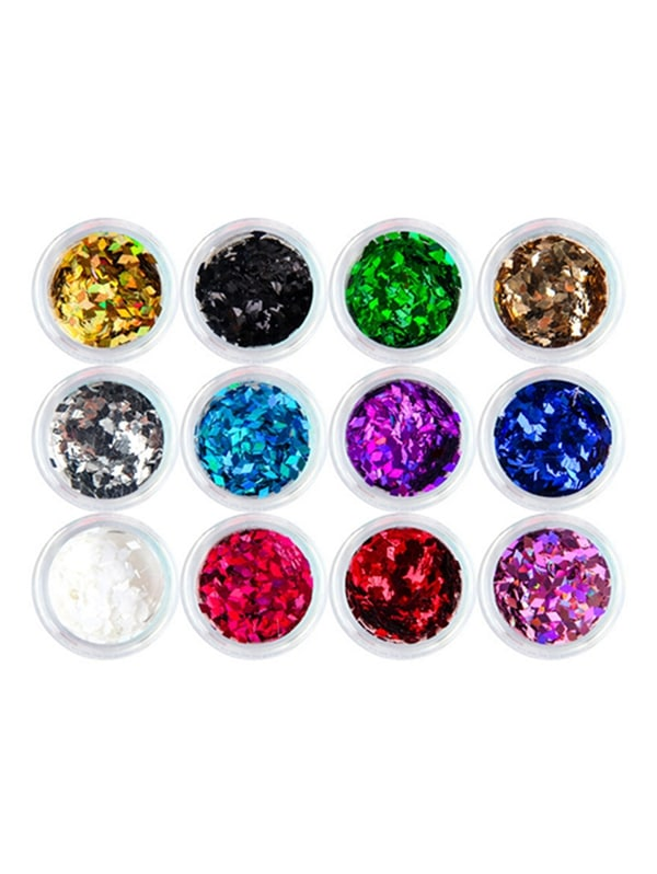 Glistening 12 Colors Nail Beauty Decoration