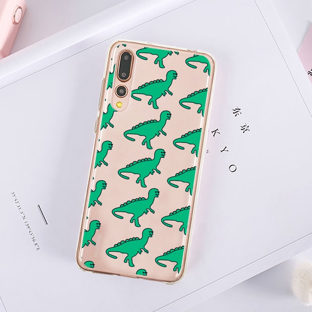 Green Dinosaur Protective Soft TPU Back Shell Case for HUAWEI P20 Pro