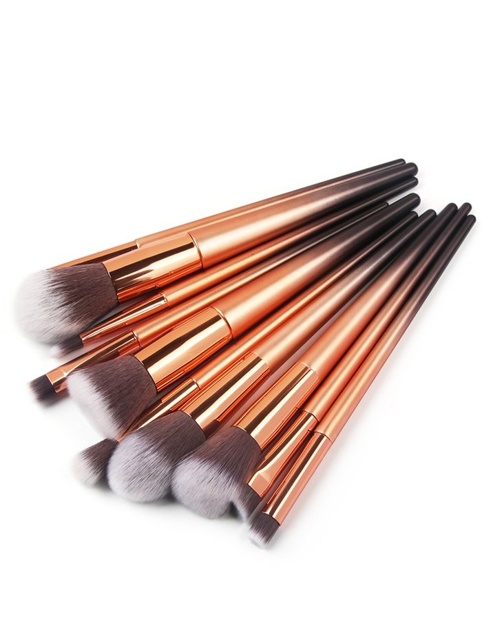 Ombre Handle Makeup Brushes Set