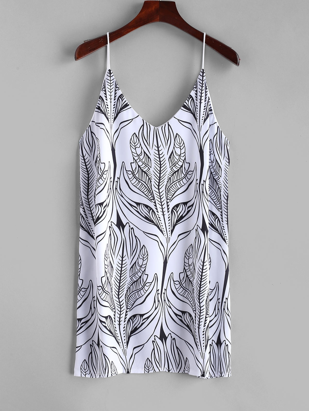 Cami Palm Leaves Mini Dress