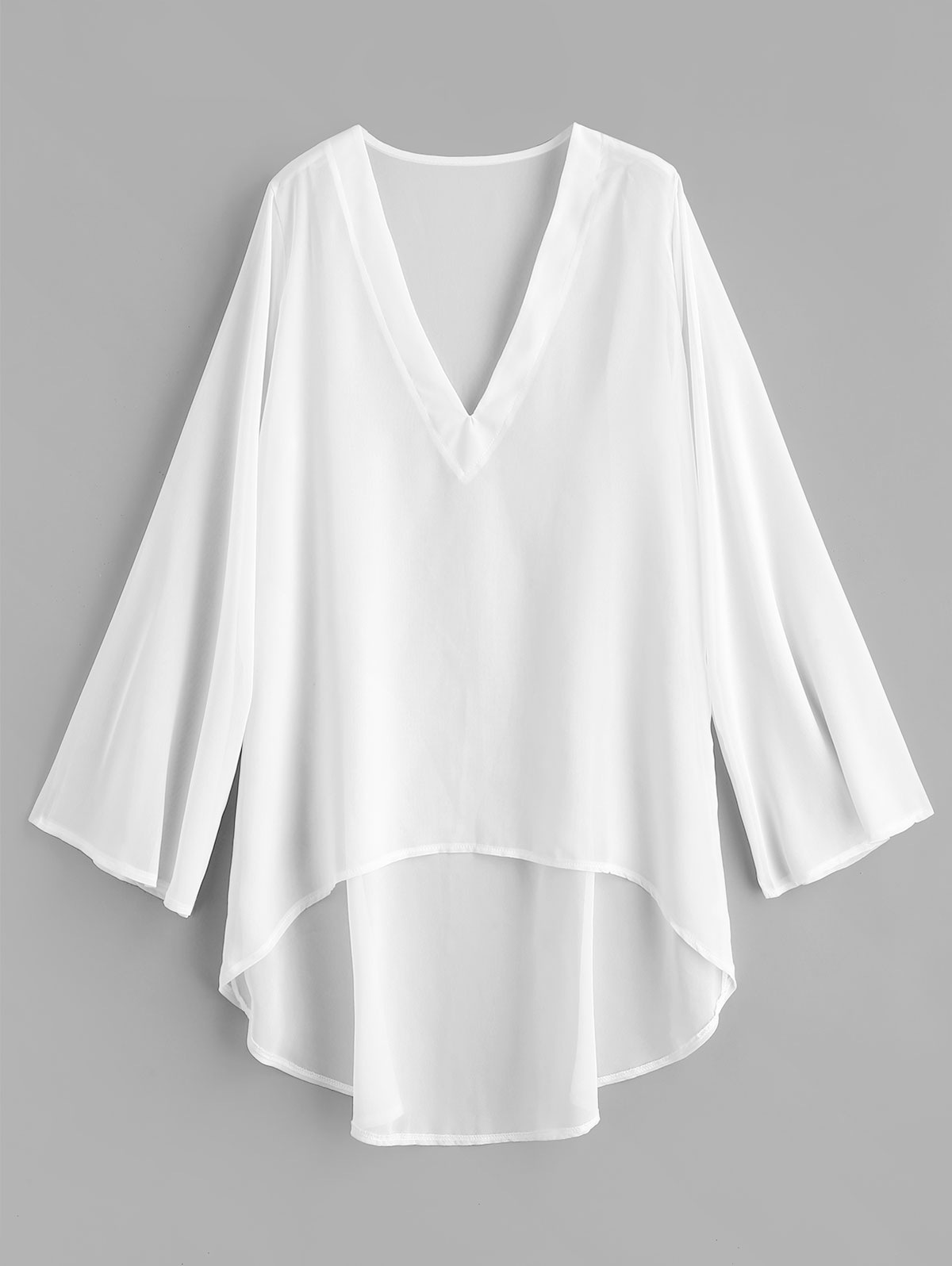 Chiffon High Low Beach Cover Up Dress