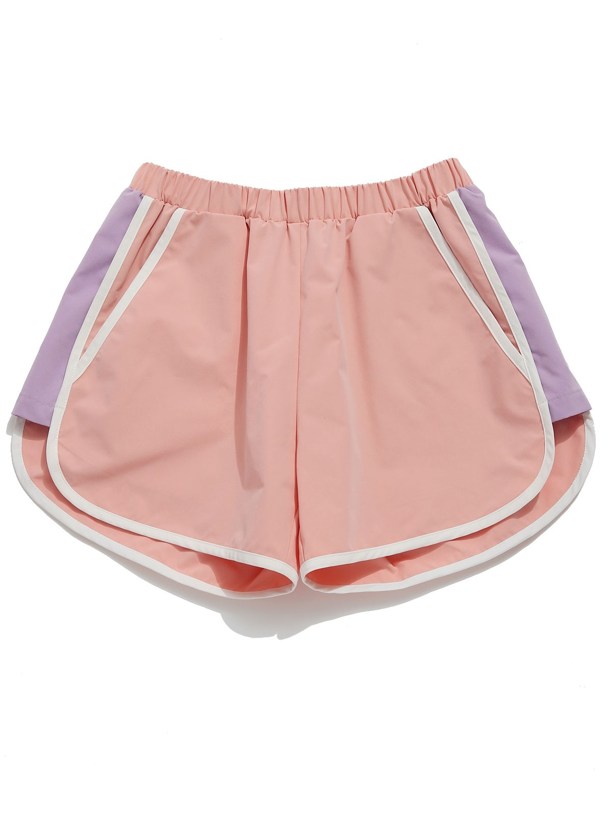 Color Block Pocket Sport Shorts