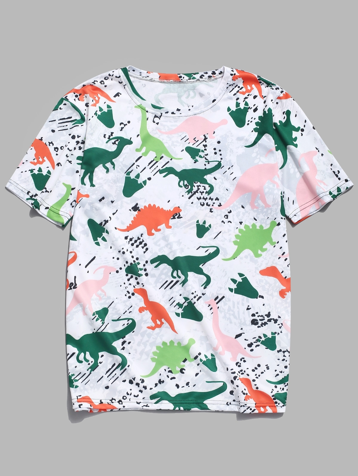 Dinosaur Print Casual Short Sleeves T-shirt