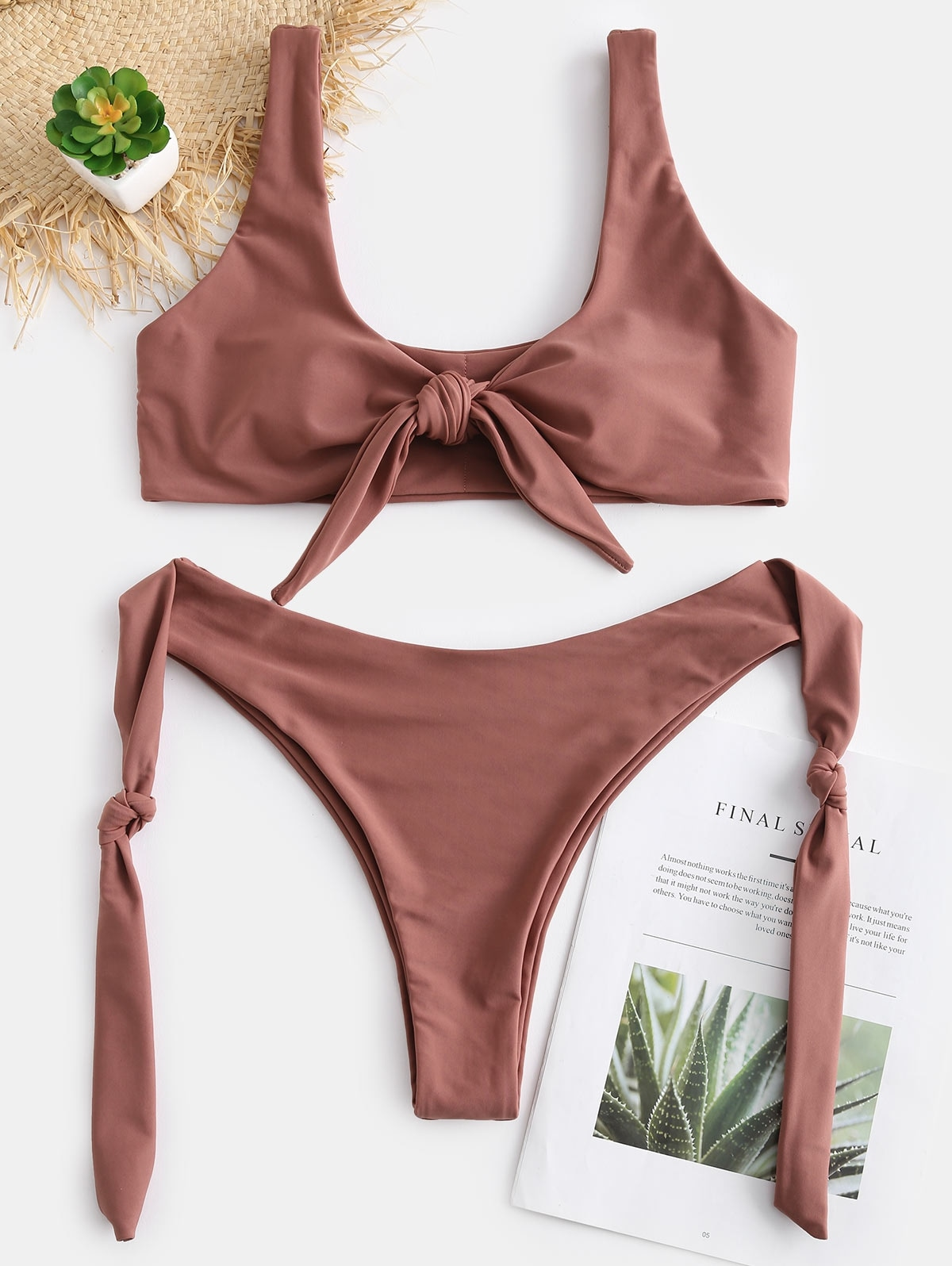 Knots High Cut Convertible Bikini Set