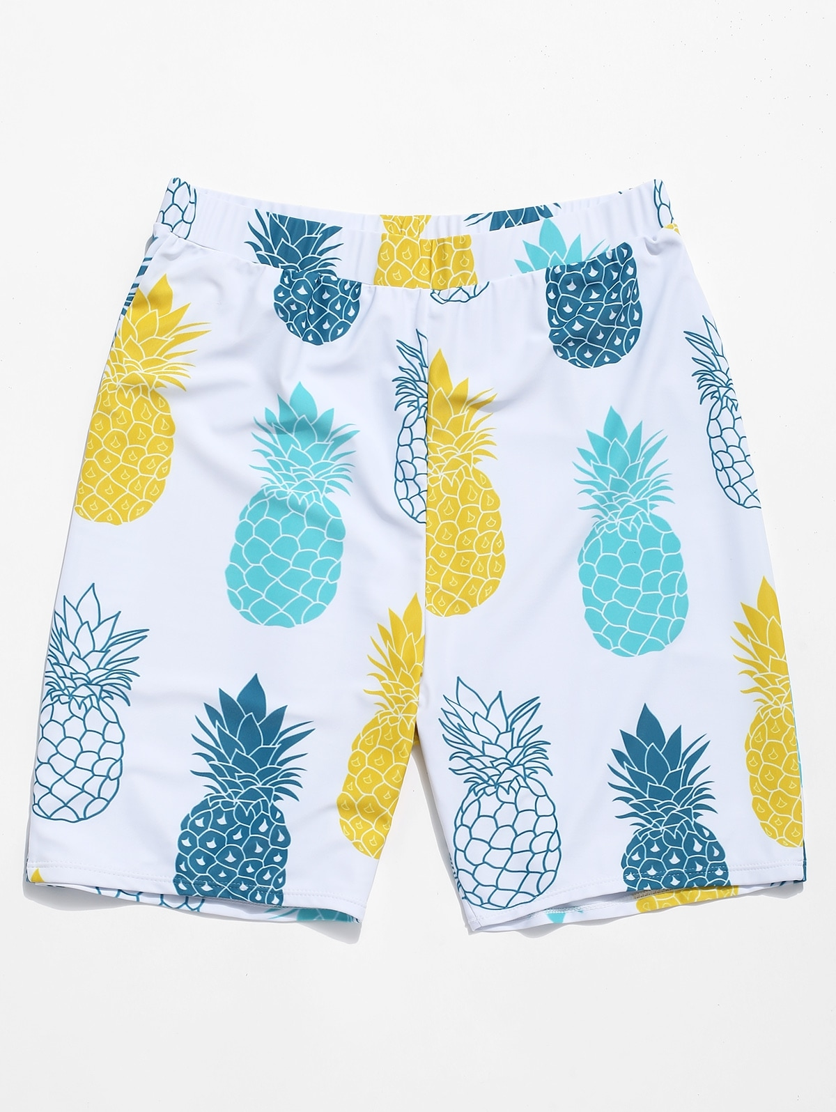 Pineapple Print Casual Beach Shorts