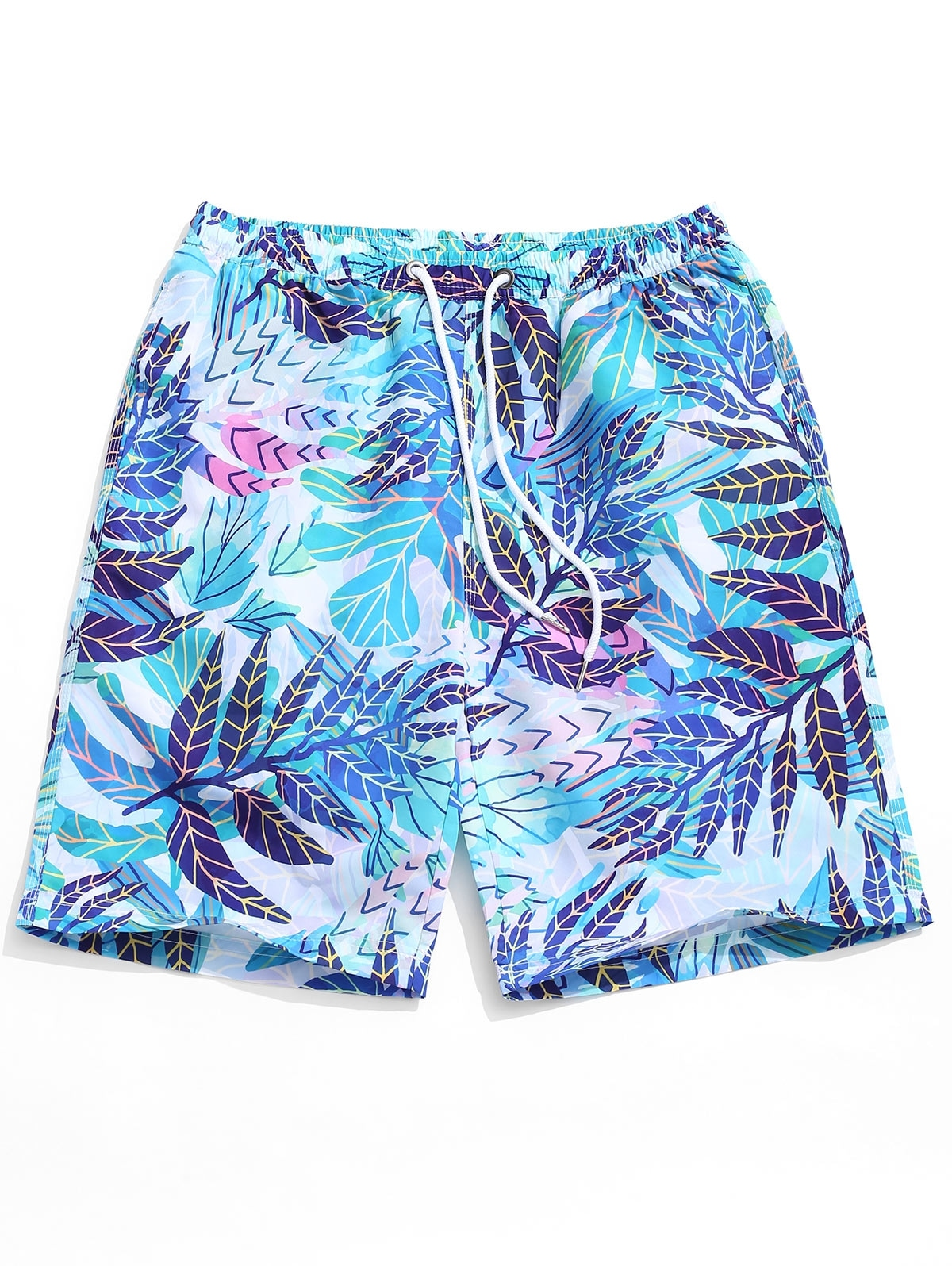 Plant Leaf Print Board Shorts