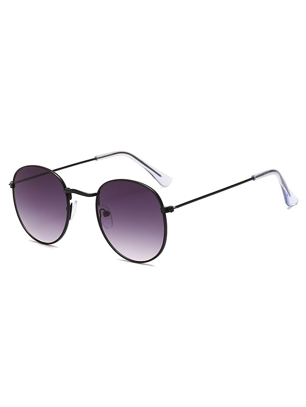 Retro Metal Round Ombre Sunglasses