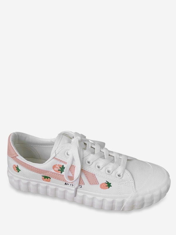 Sweet Strawberry Canvas Shoes
