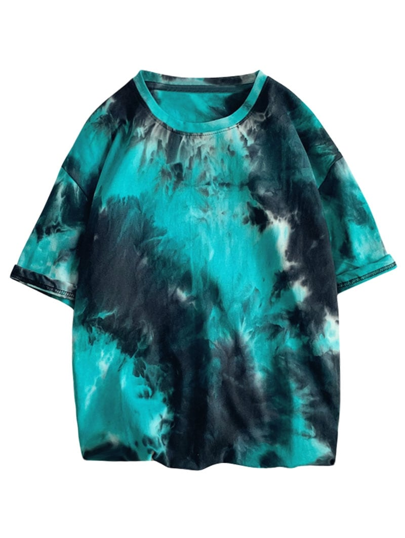 Tie Dye Painting Print Short Sleeves T-shirt